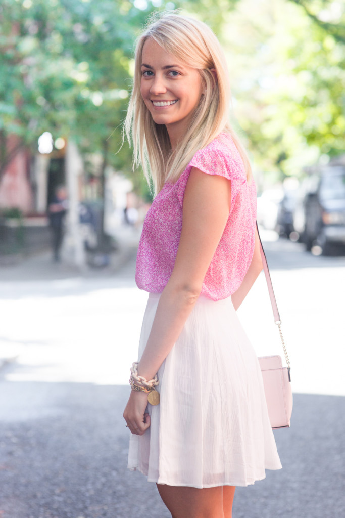 Rhyme and Reason Joie Pink Ruffle Top