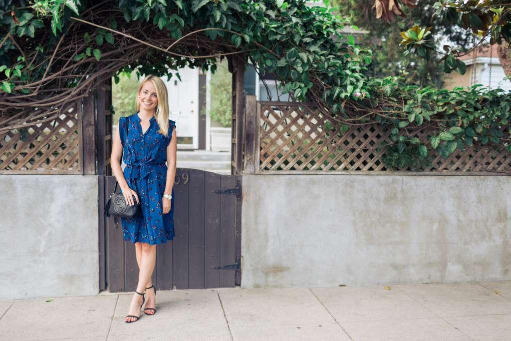 Rhyme & Reason Blue Rebecca Taylor Tie Dress