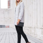 Tweed Cardigan at New York Fashion Week