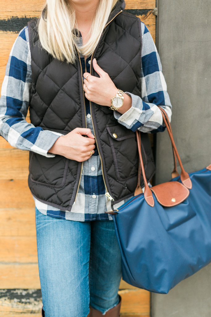 Quilted J.Crew Vest on Rhyme & Reason