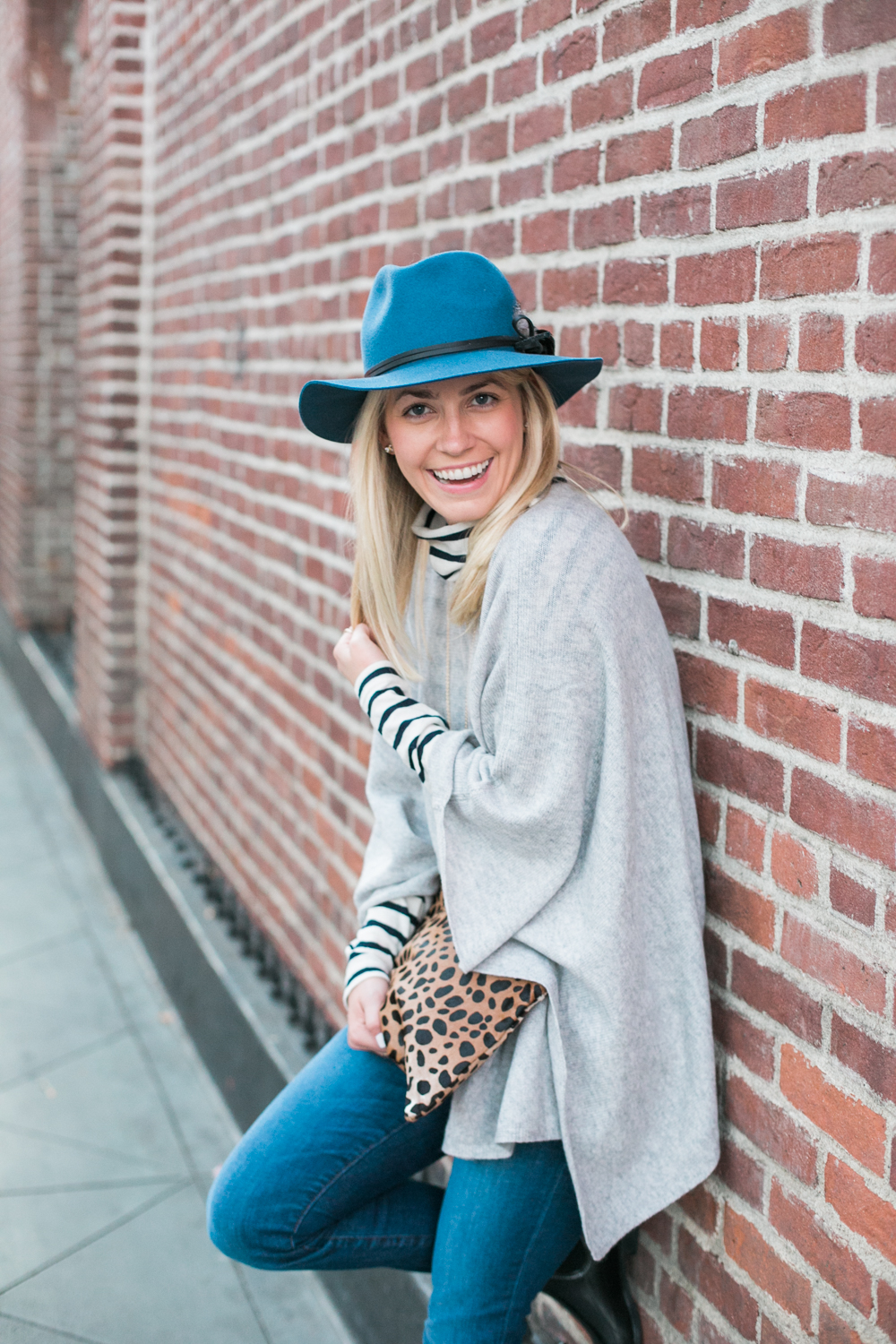 J.McLaughlin Cashmere Poncho Layering Outfit on Rhyme & Reason