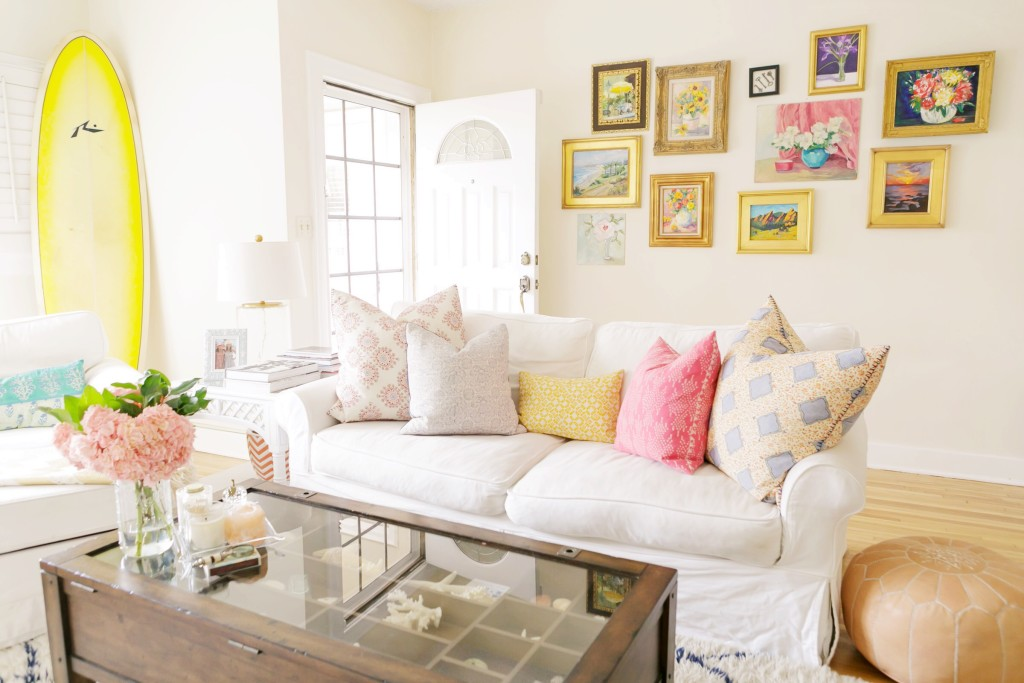 Gallery Wall in Santa Monica Home Tour on Rhyme & Reason
