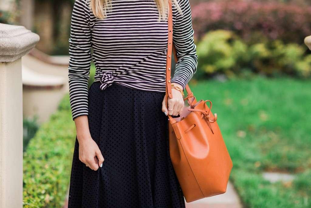 Loft Lace Midi Skirt on Rhyme & Reason Fashion Blog