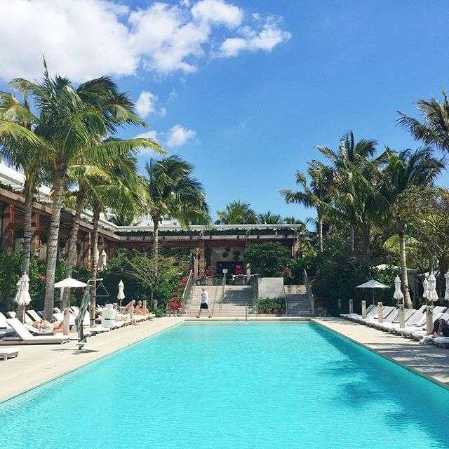 The Miami Beach Edition Hotel Pool on Rhyme & Reason Fashion Blog
