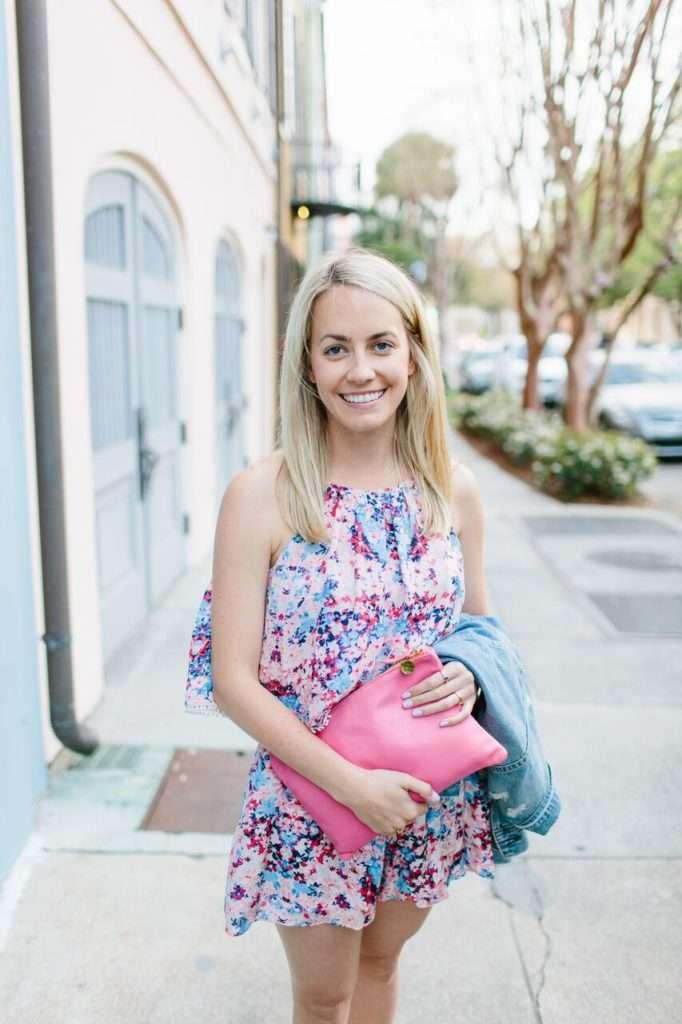 Floral Romper in Charleston on Rhyme & Reason Fashion Blog