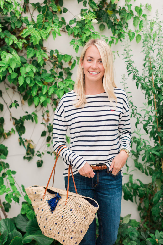 J.Crew Blue J.Crew Blue and White Summer Stripes on Rhyme & Reasonand White Summer Stripes on Rhyme & Reason