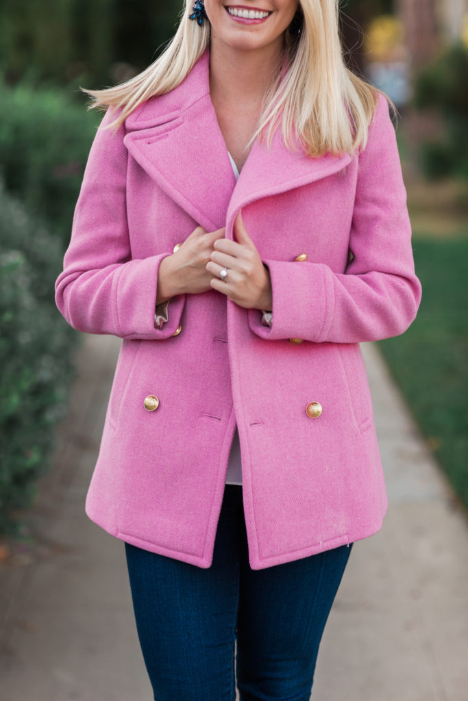 J.Crew Pink Coat on Rhyme & Reason