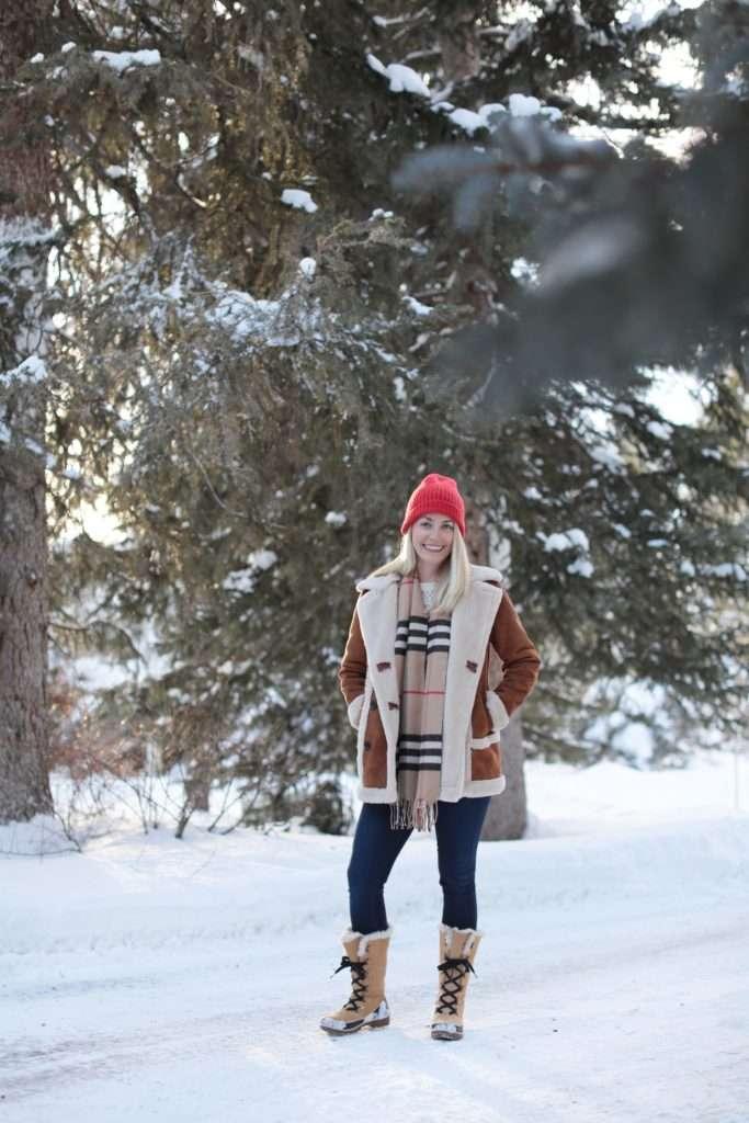 Shearling Coat in Jackson Hole on Rhyme & Reason
