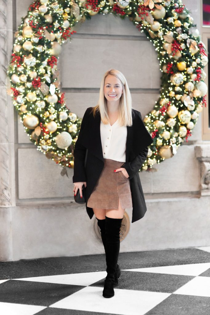 Suede Skirt On Fifth Avenue on Rhyme & Reason