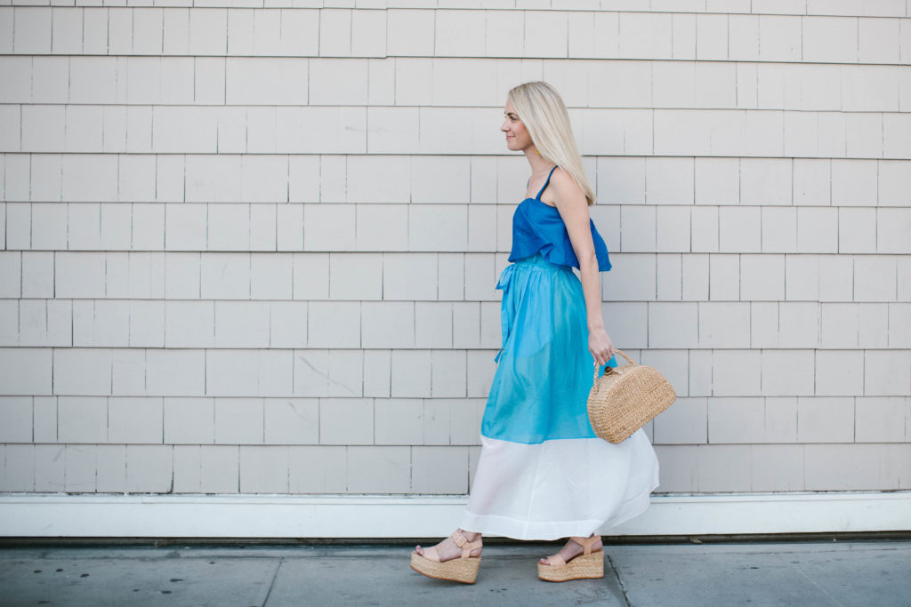 Blue Maxi Dress on Rhyme & Reason