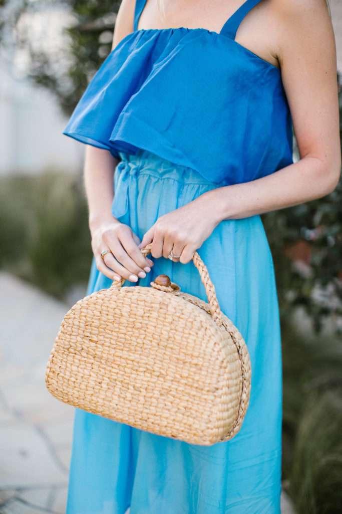 Blue Maxi Dress on Rhyme & Reason