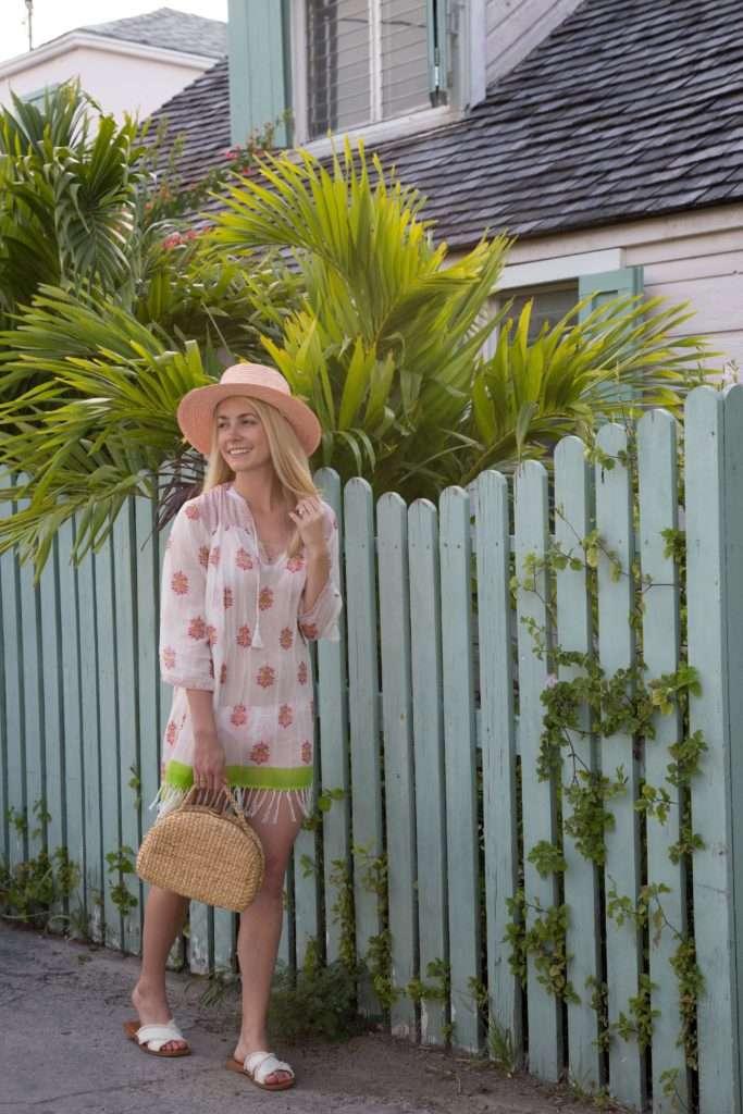 Roberta Roller Rabbit Beach Coverup on Harbour Island on Rhyme & Reason