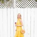 Yellow Eyelet Dress
