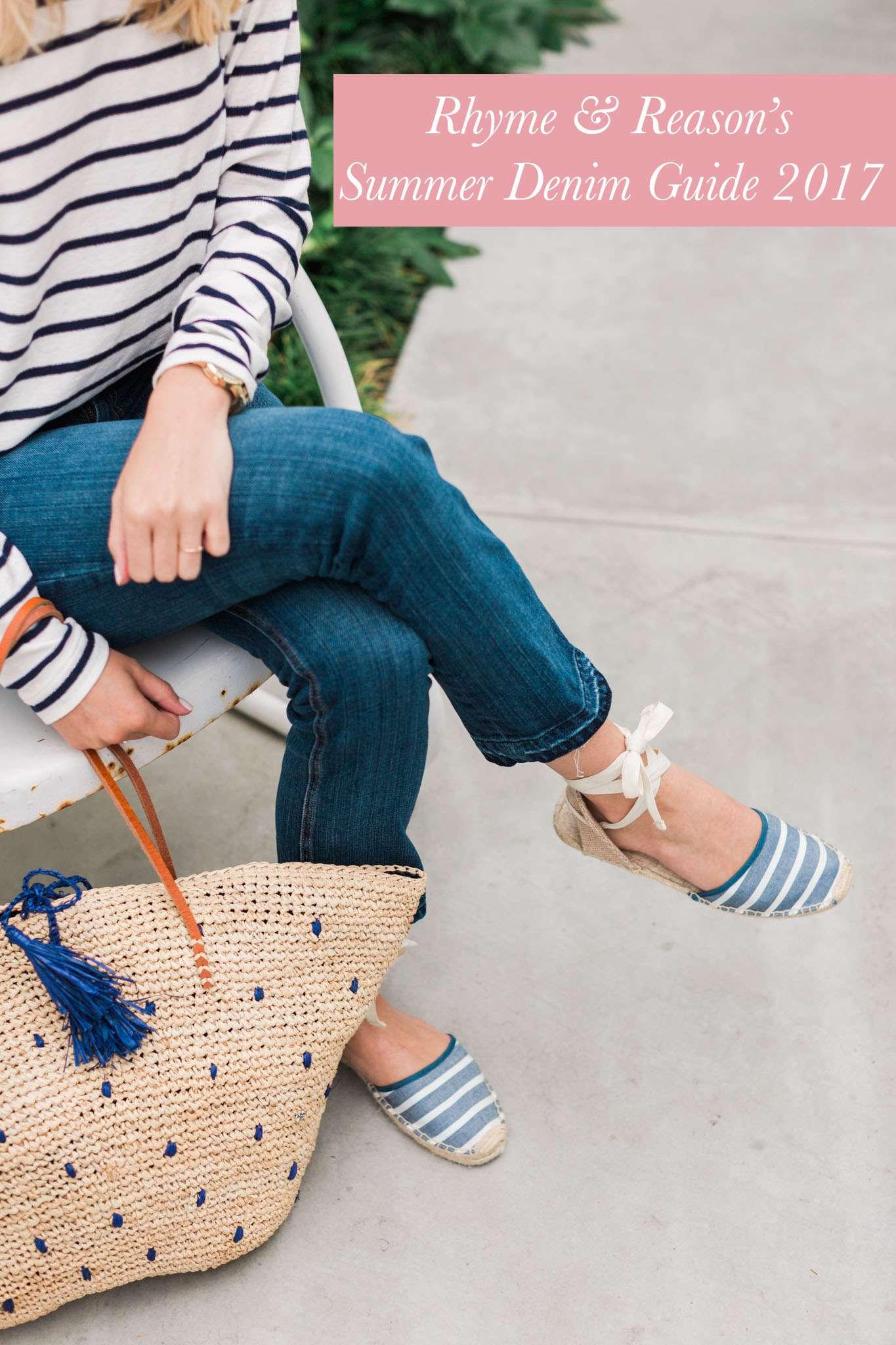 Blue Jeans Stripes Summer Denim Guide 2017