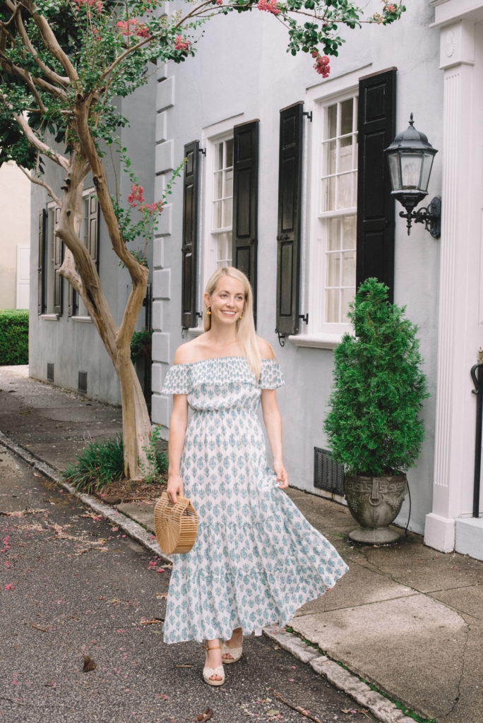 Blue and Green Maxi Dress on King Street on Rhyme & Reason