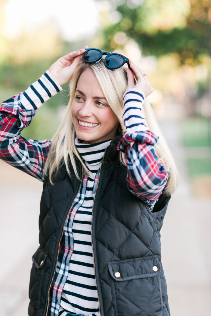 fall layers quilted vest