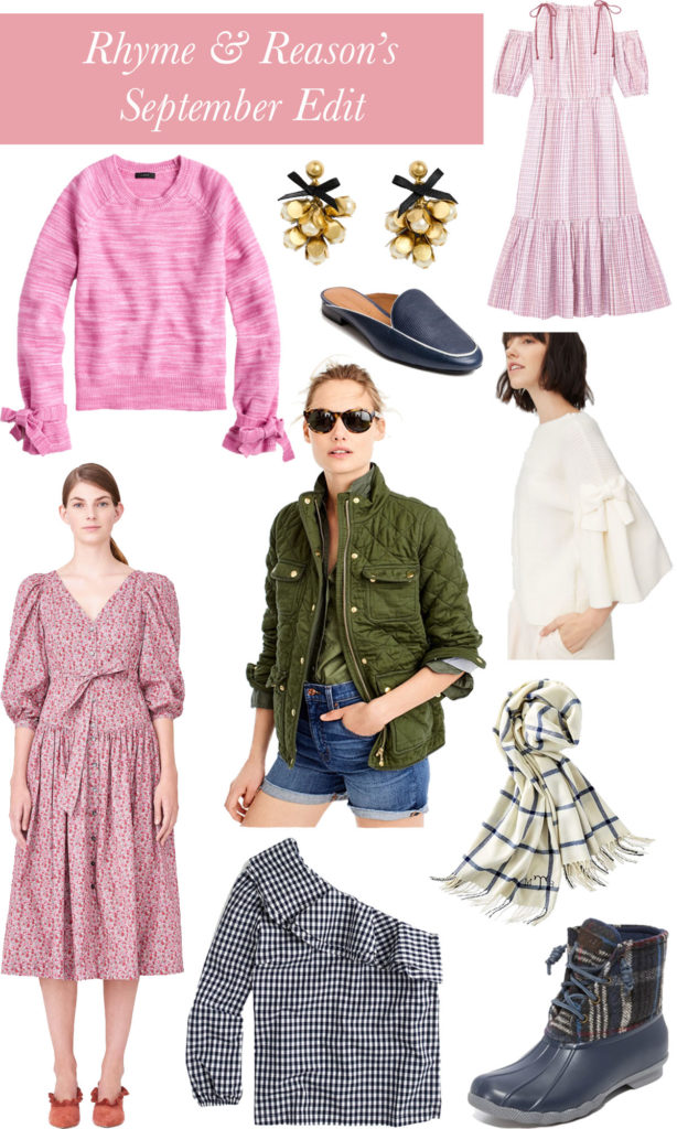 A roundup of what to wear in September on Rhyme & Reason