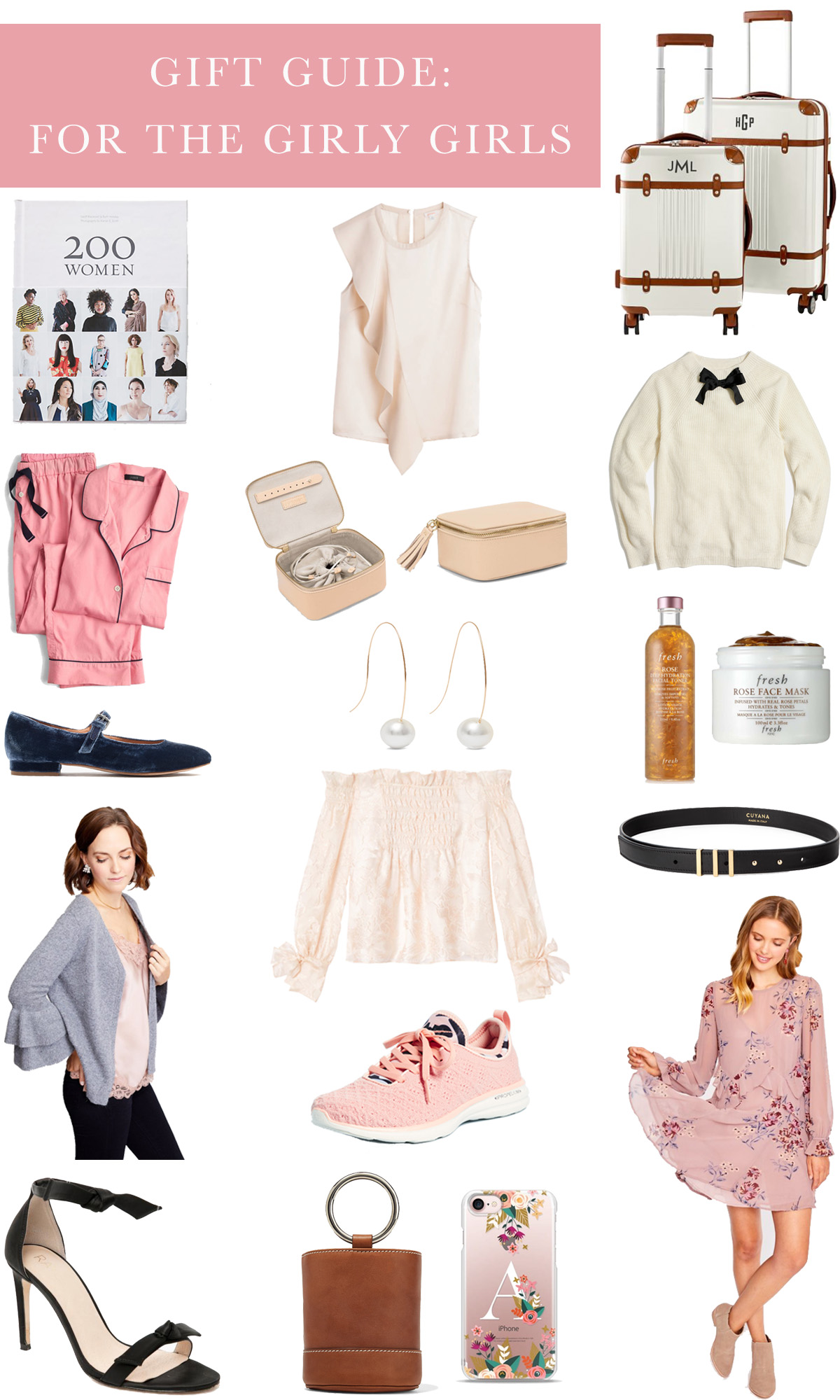A Roundup of the Best Feminine Holiday Gifts For Girls // Gift Guide: For The Girly Girls // Rhyme & Reason