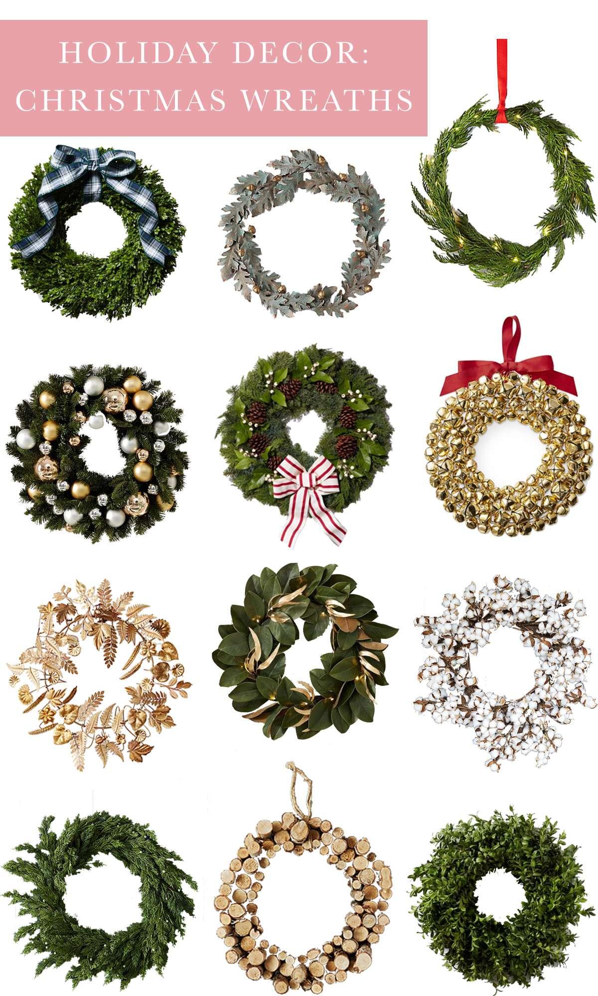 Holiday Decor: 12 Christmas Wreaths for a Festive Season on Rhyme & Reason
