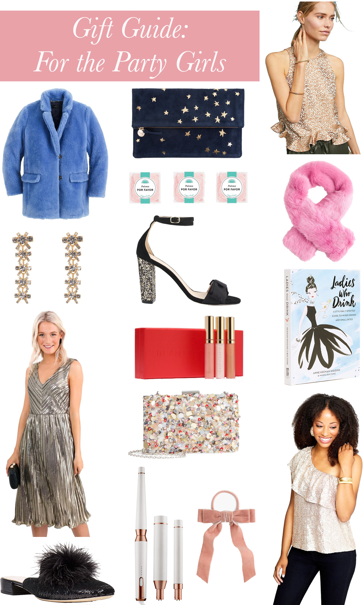 A Roundup of the Best Gifts for Girls that like to Hit the Town // Gift Guide: For the Party Girls // Rhyme & Reason