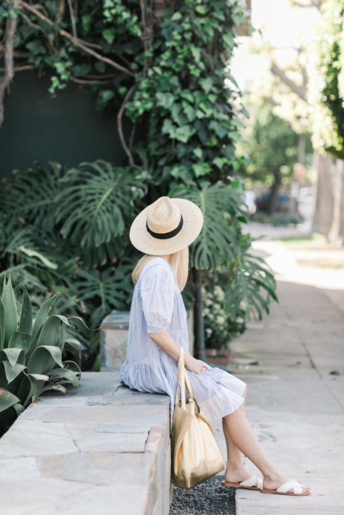 Easy Sundress with a Wide Brim Sunhat // Rhyme & Reason