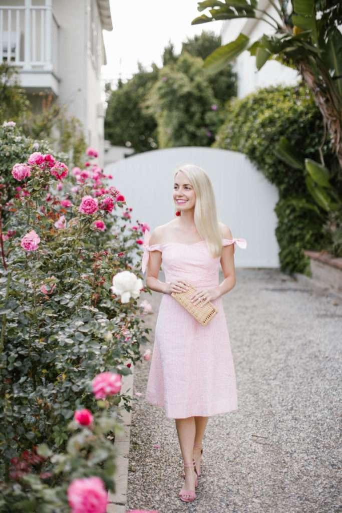 Pink Park Dress in Santa Monica // Rhyme & Reason