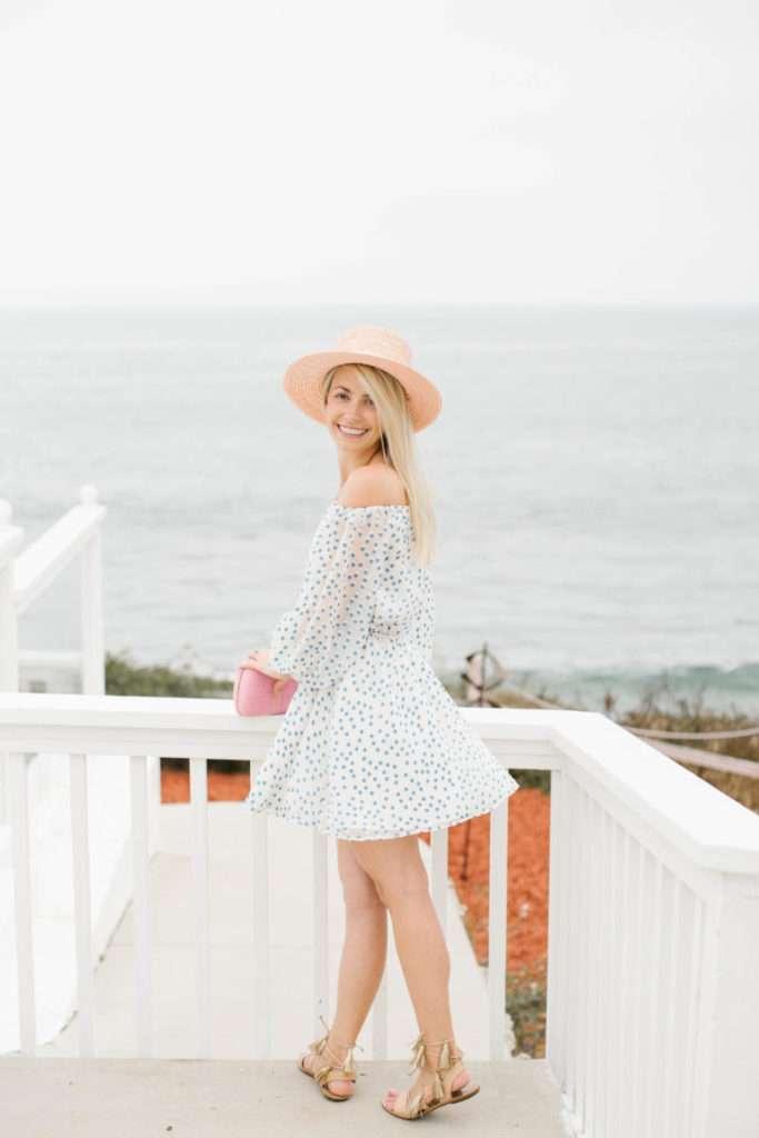Polka Dot Twirl Dress in Laguna Beach // Rhyme & Reason