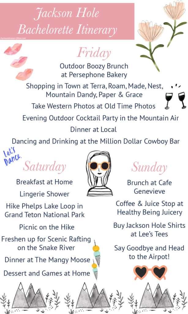 A Jackson Hole Bachelorette Itinerary // Rhyme & Reason
