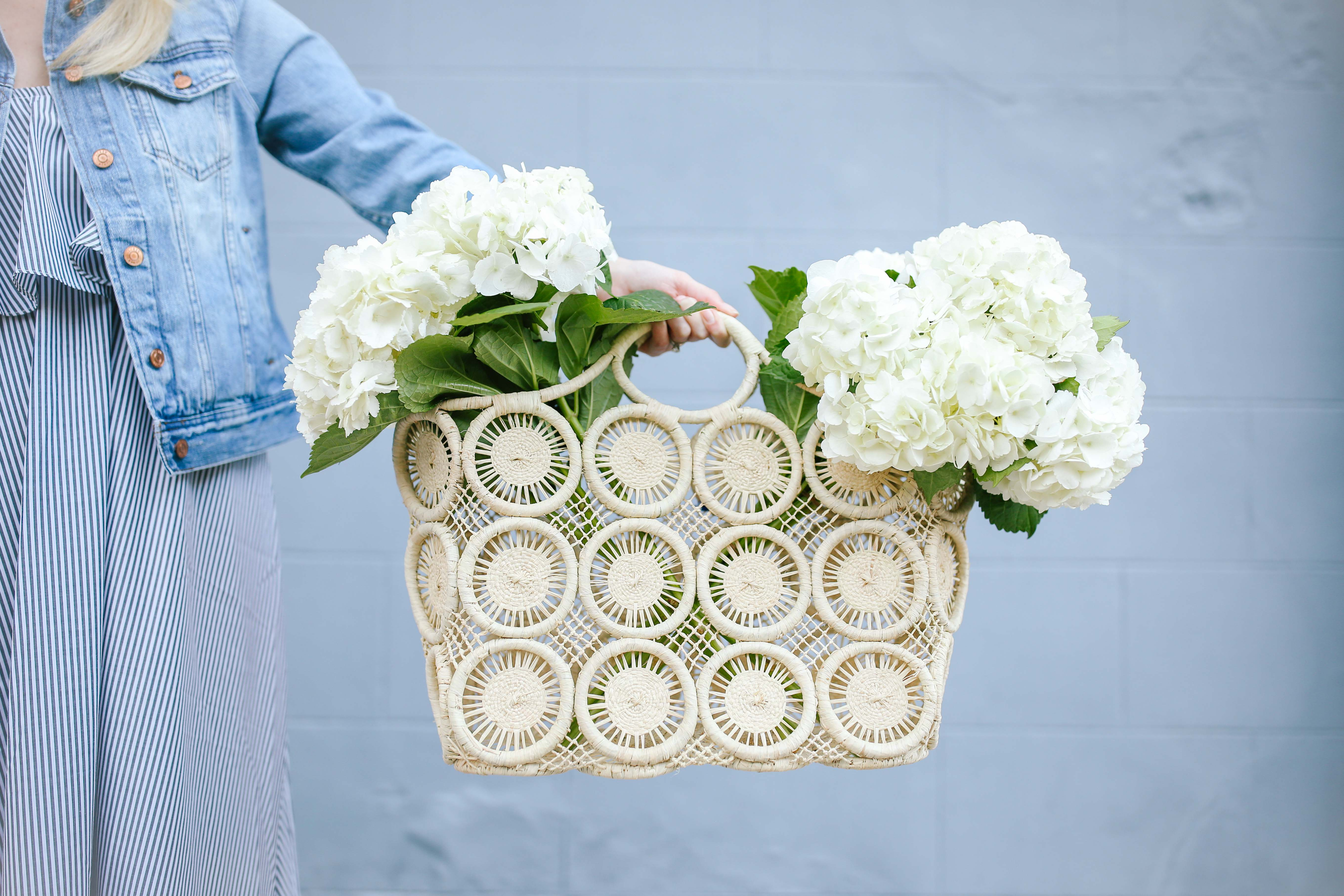 Tips for buying straw basket bags + the best straw totes to buy for spring and summer // Rhyme & Reason