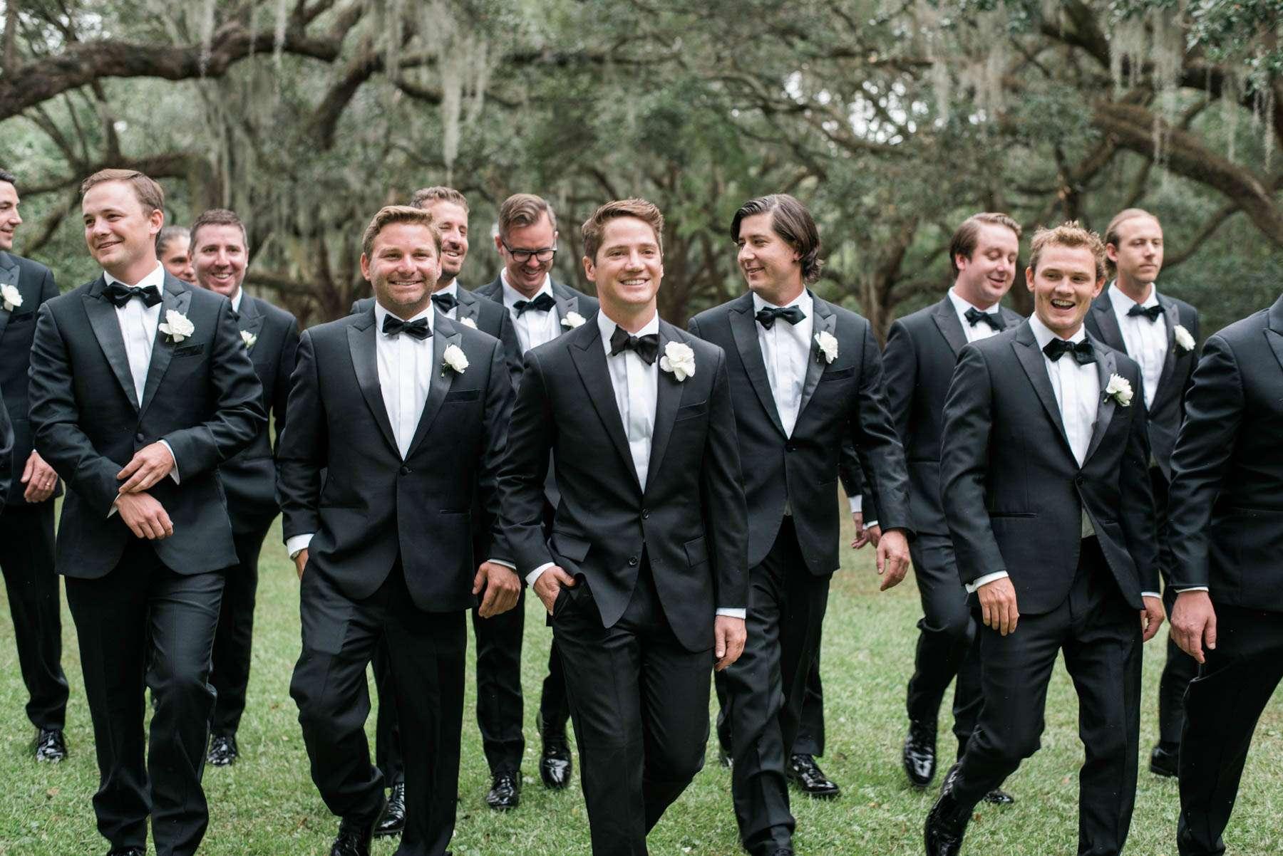 Groom + Groomsmen in Charleston on Wedding Day / Jillian Attaway of Rhyme & Reason's Charleston Wedding on Southern Weddings