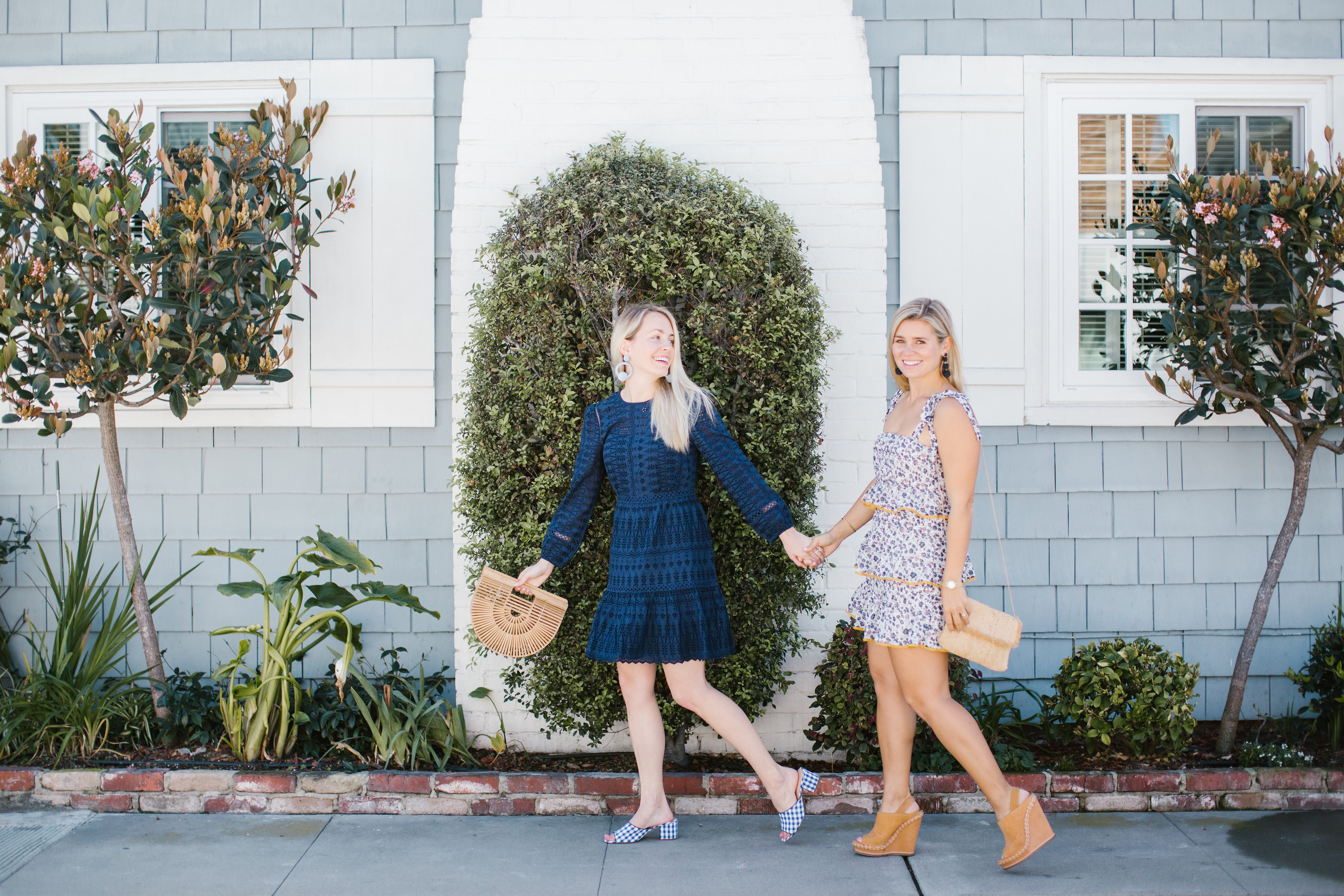 Jillian Attaway and Allison Norton share their favorite spring dresses for a girls' day out in Newport Beach, California // Rhyme & Reason