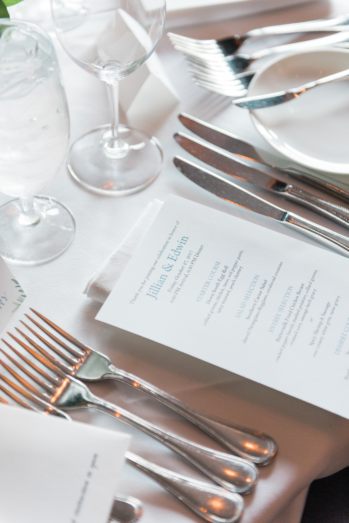 The southern menu at Jillian Attaway Eversole's rehearsal dinner // Rhyme & Reason