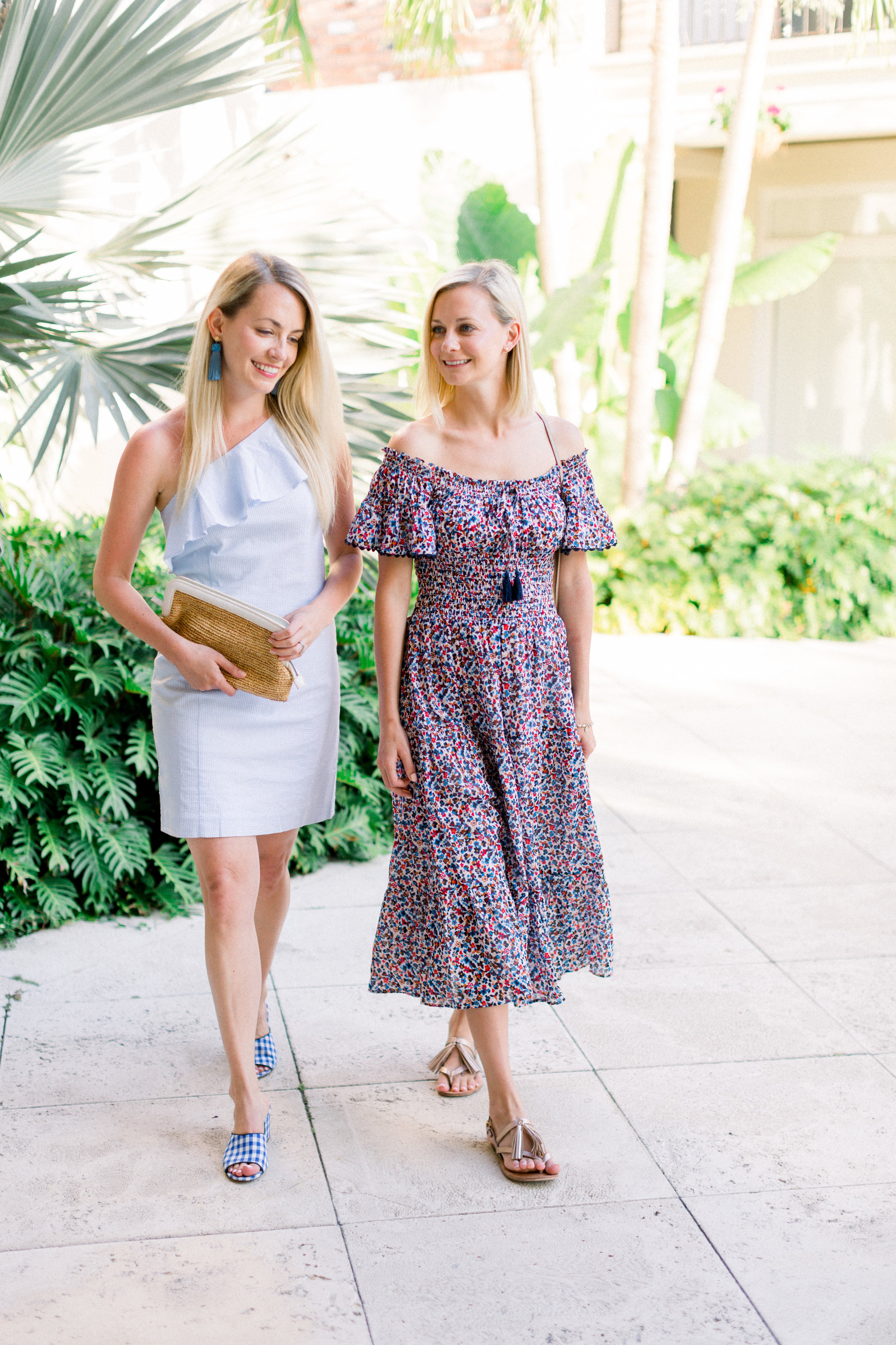 Two sisters style stripes and florals on Worth Avenue in Palm Beach // Rhyme & Reason