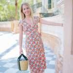 Midi Floral Wrap Dress