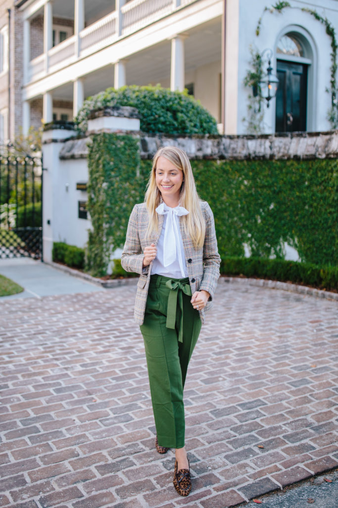 How To Style Olive Green Pants // Rhyme & Reason