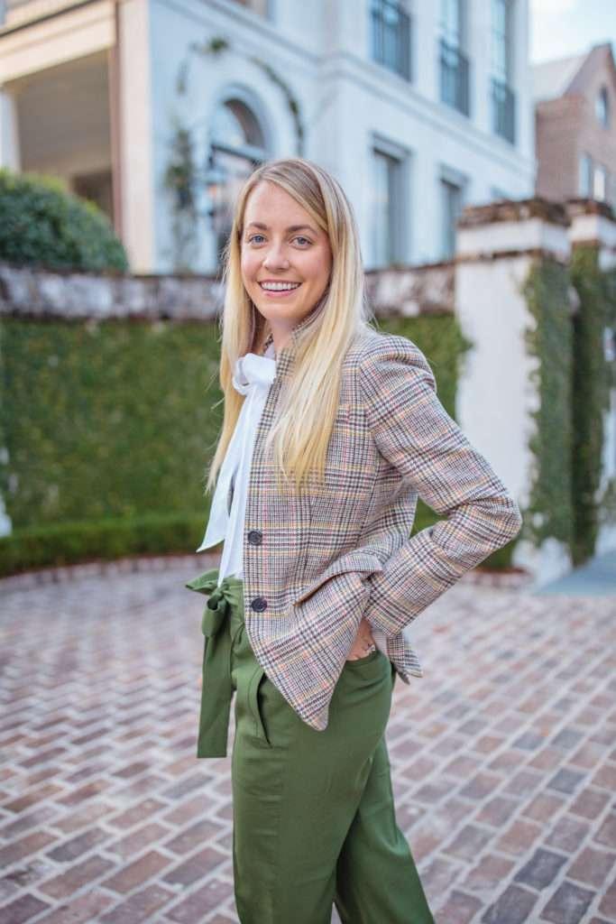 how to wear a tweed blazer + outfits to style around a plaid tweed blazer // Rhyme & Reason