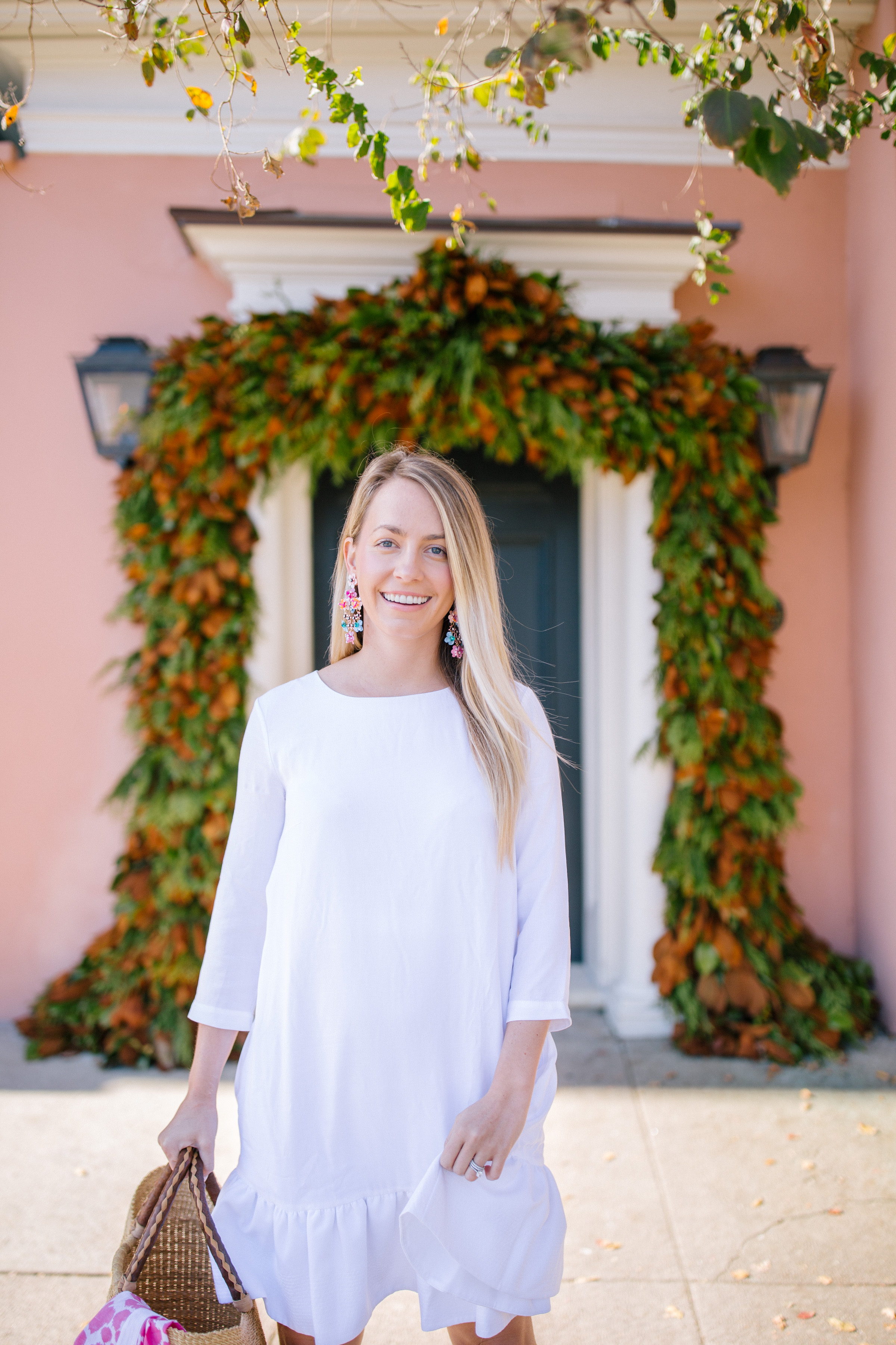 Jillian Attaway Eversole shares her favorite winter white Persifor dress + what she'd wear on a winter beach vacation | Rhyme & Reason