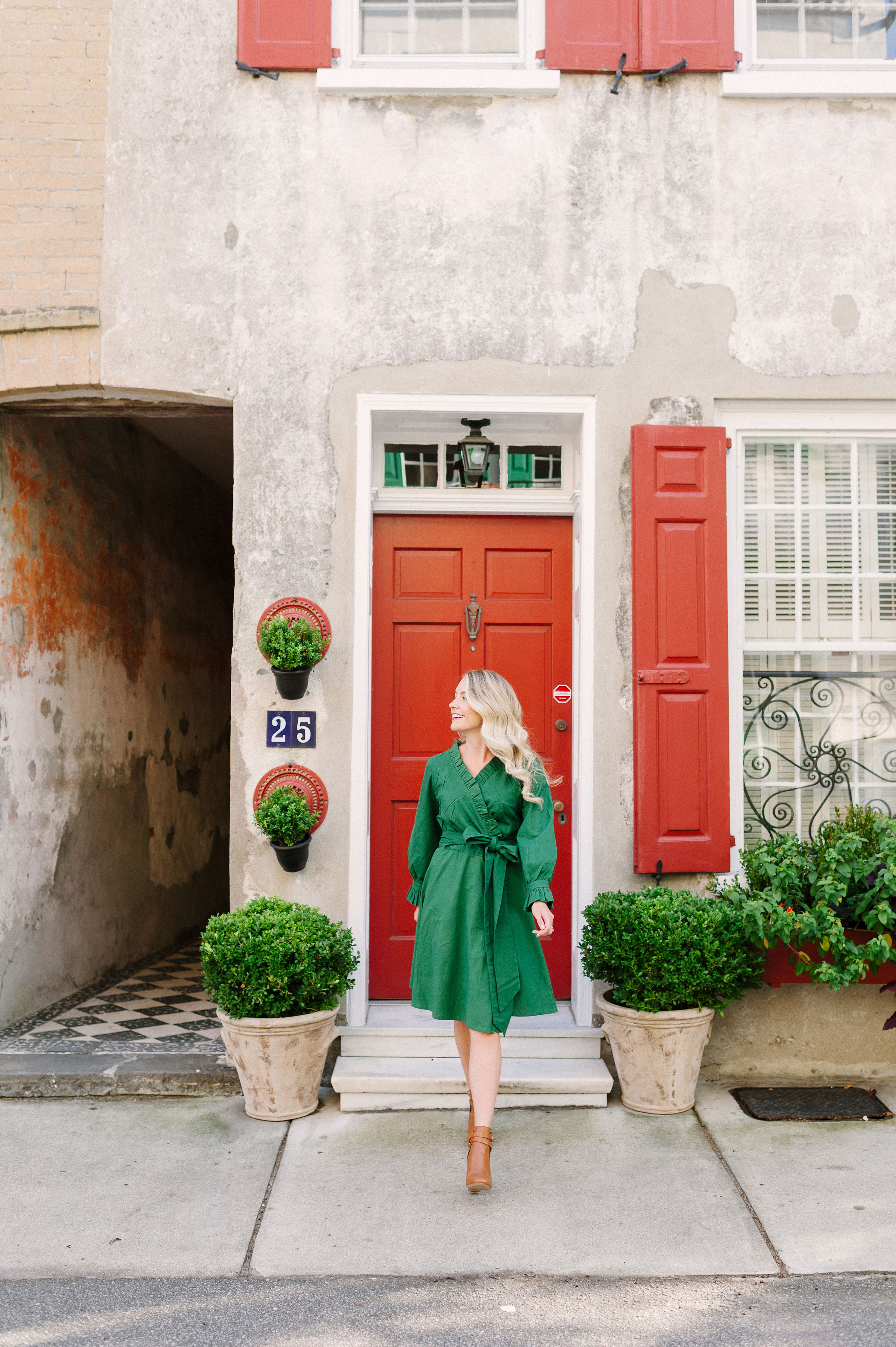 Jillian Attaway Eversole steps out in Charleston in the perfect holiday party cocktail dress | Rhyme & Reason