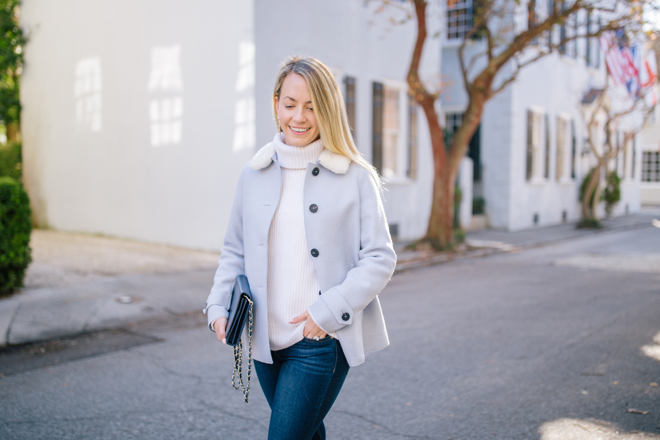What to wear on a sunny winter day in Charleston | Rhyme & Reason