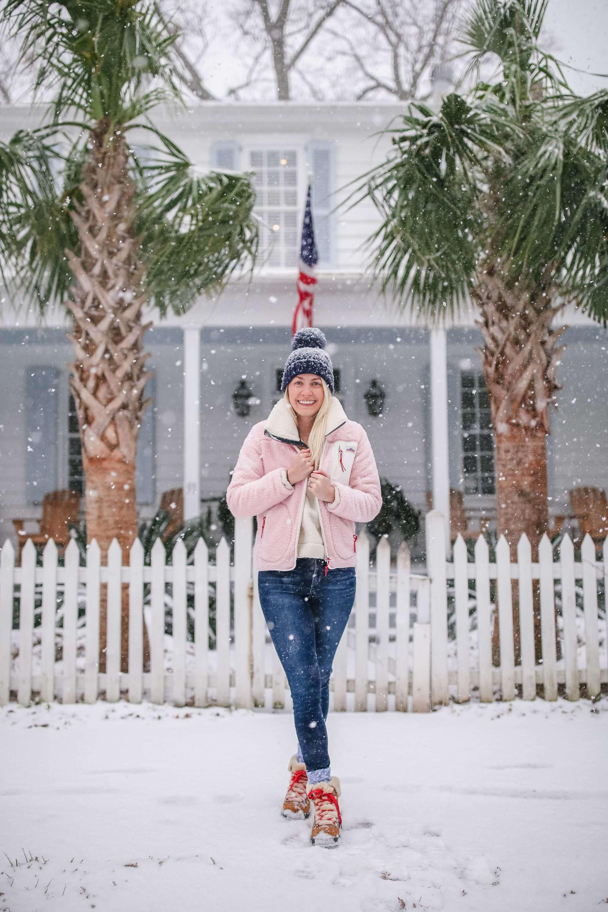 A snow day in Charleston, South Carolina