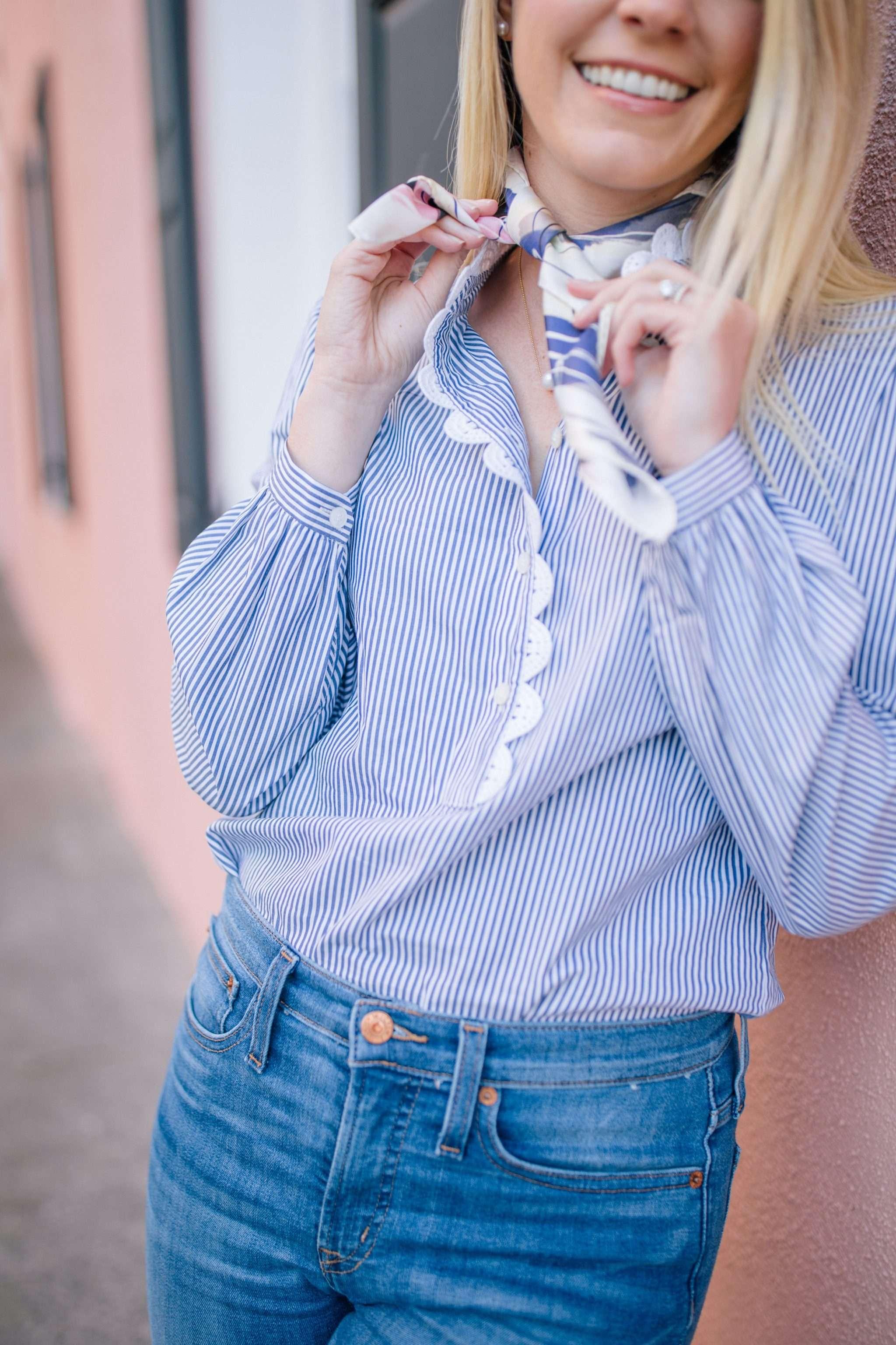 Chic ways to wear a scarf + my favorite neck scarfs   Rhyme & Reason