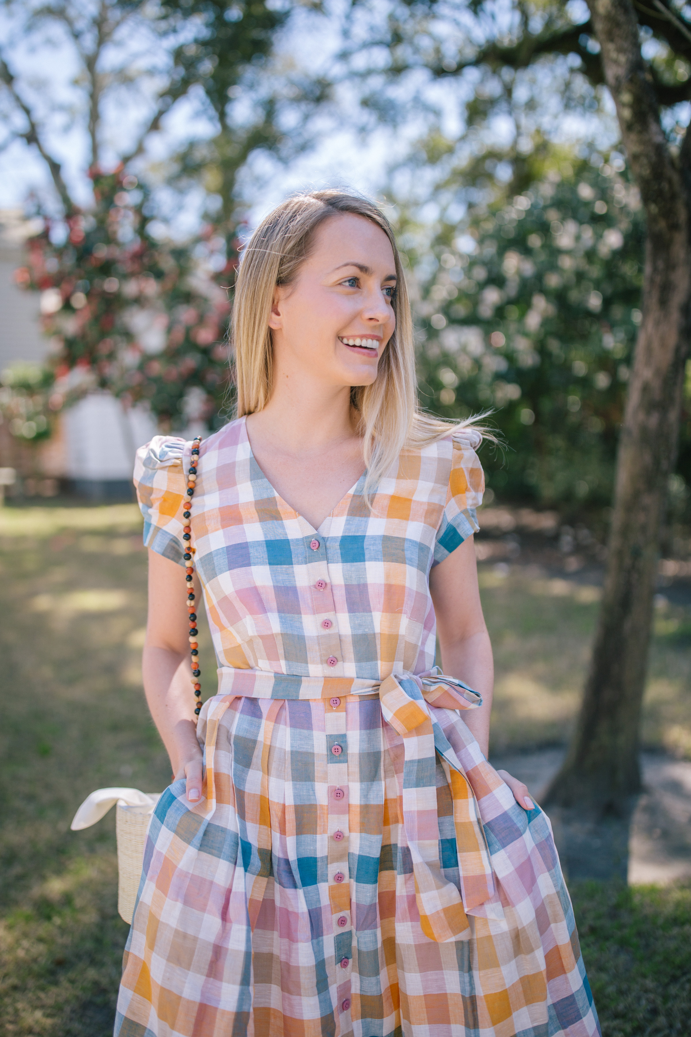 The top cutest pastel gingham dress for spring and summer parties | Rhyme & Reason