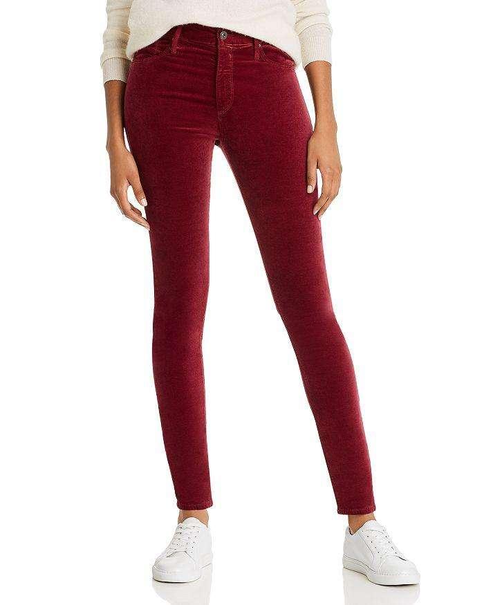 Burgundy Velvet Jeans | Rhyme & Reason