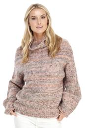 Cowl Neck Multicolor Knit