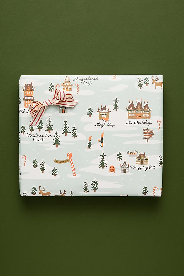 Gift Guide: Gifts for the Snow Bunny - North Pole Wrapping Paper | Rhyme & Reason