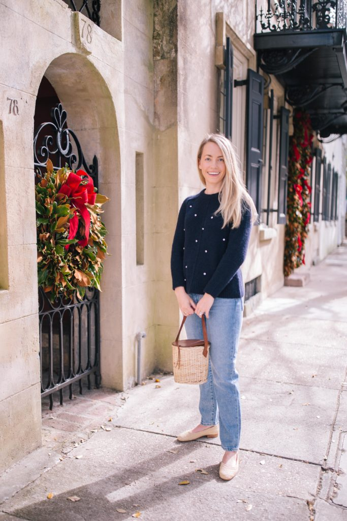 How to wear on a winter trip to Charleston | Rhyme & Reason