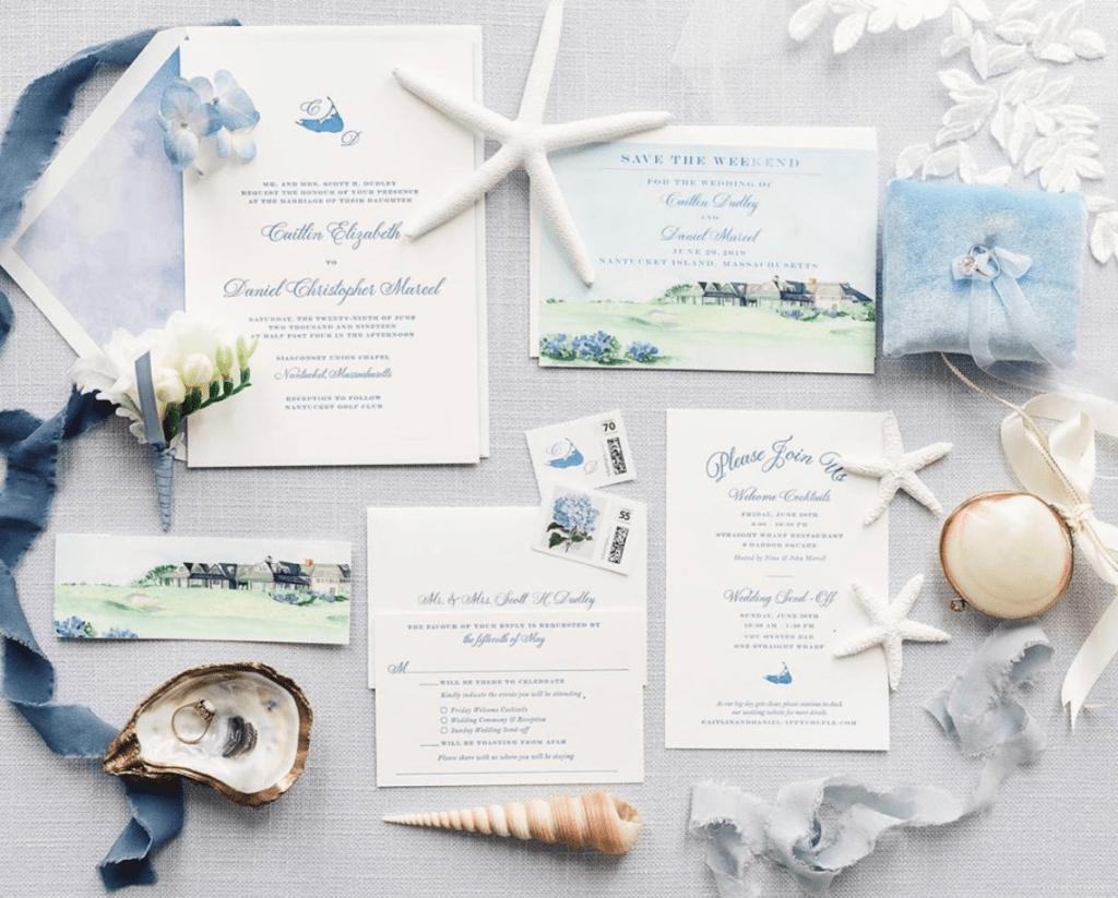 Nantucket wedding invitation inspiration from Nantucket-based artist Meredith Hanson | Rhyme & Reason