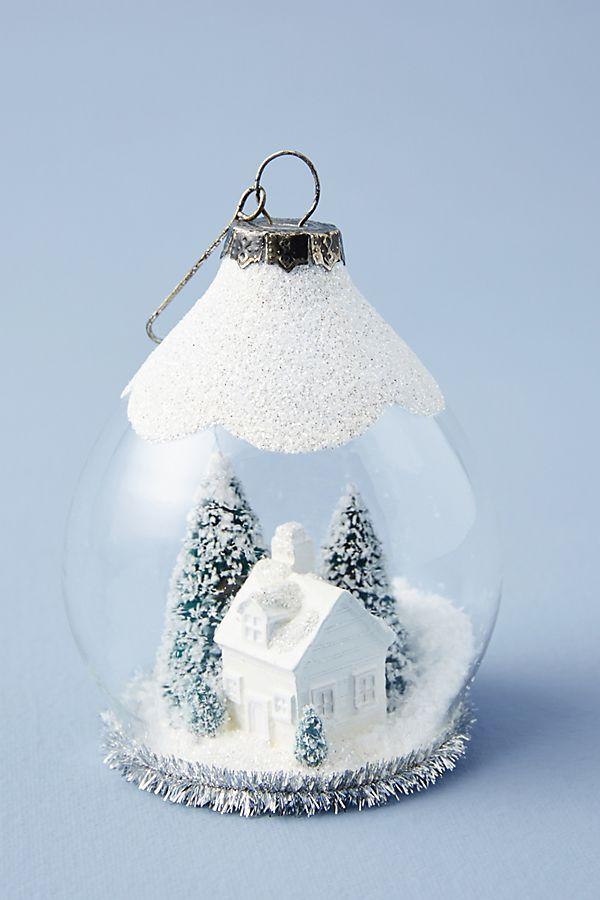 Snow Globe Blizzard Ornament