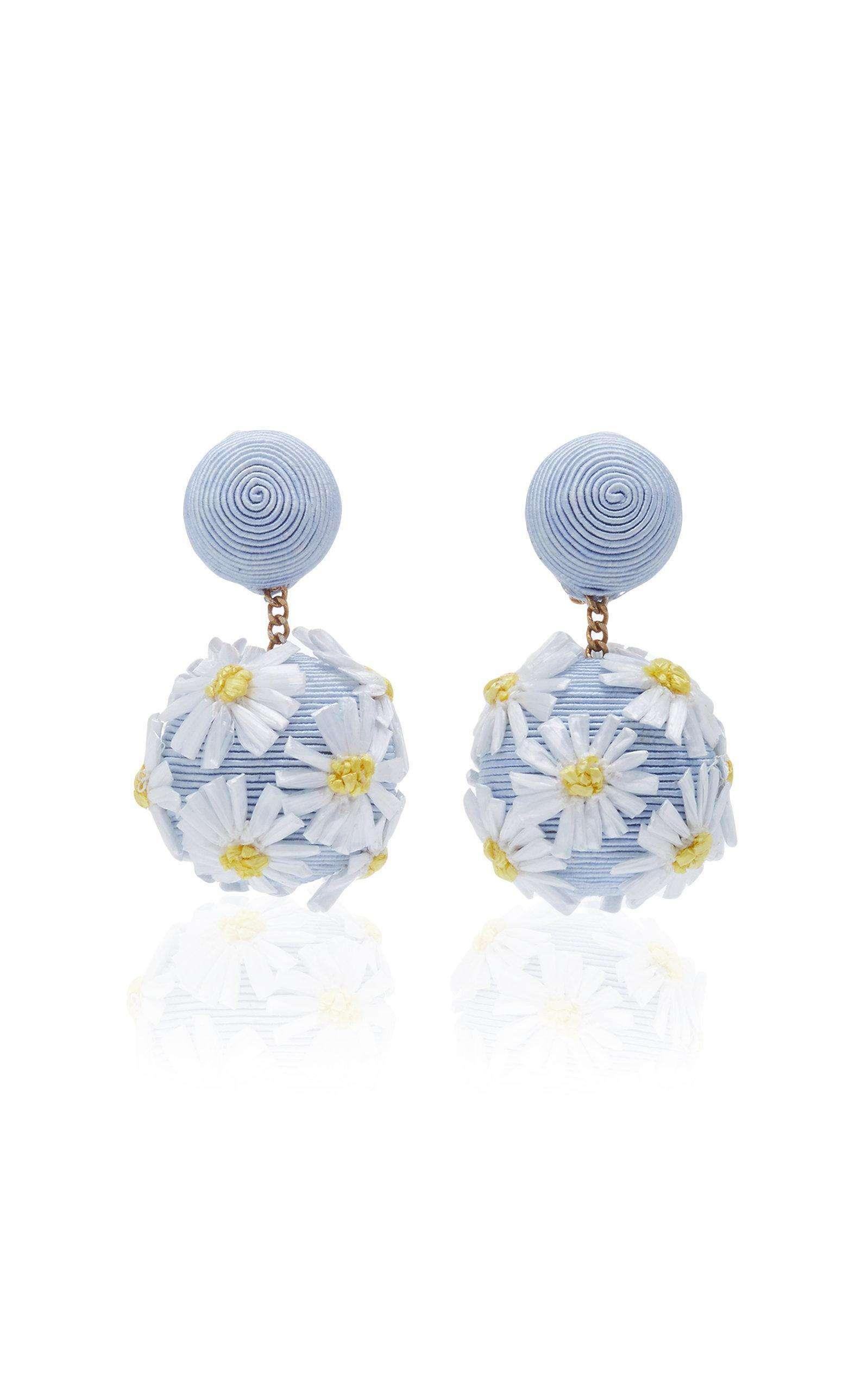 Resort Wear Finds Under $100: Floral Drop Earrings | Rhyme & Reason