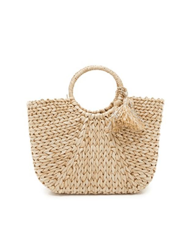 Resort Wear Finds Under $100: Basket Weave Tote | Rhyme & Reason